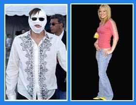 Hilary Duff and Jim Carrey were looking frightful at the 2003 Teen Choice Awards.