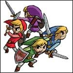 The elven hero Link saves the day in three more Legend of Zelda video games from Nintendo for the Gamecube and Gameboy Advance!