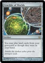 With the Crucible of Worlds card from the Magic: The Gathering Fifth Dawn expansion set you can change the way the game is played.
