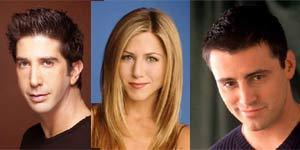 David Schwimmer, Jennifer Aniston and Matt LeBlanc picutres courtesy of NBC.