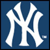 Logo of the New York Yankees.