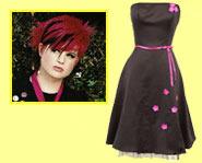 Kelly Osbourne is a hardcore punk but she still wears dresses.