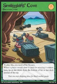 In Neopia, smuggler Neopets stash their loot in a smuggler's cove. Check out this Neopets Trading Card Game preview from Wizards of the Coast!