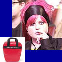 Kelly Osbourne looks stylish this spring with a retro bowling ball bag.