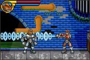 Cyborg kicks evil's butt in the Teen Titans video game for the Gameboy Advance from Majesco.