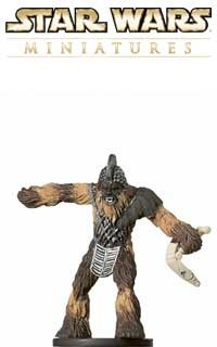 This fig of a Wookie Berserker is a sneak peek from the Star Wars Miniatures Revenge of the Sith expansion set, based on the Star Wars Episode III movie!