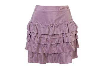 Silky tiered skirt from Forever21.com, $27.80