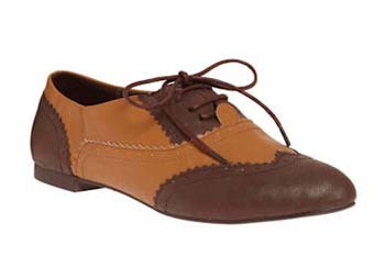 Get to the point spectator shoes in brown from ModCloth.com, $39.99