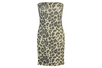 Strapless cheetah dress from Forever21.com, $17.80