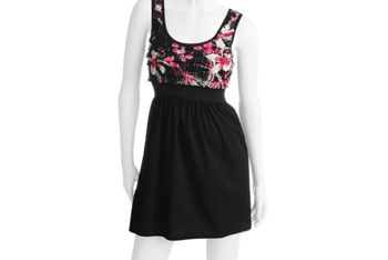 Juniors floral elastic waist dress from WalMart.com, $14