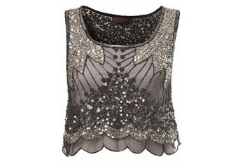 Embellished crop top from MissSelfridge.com, $50