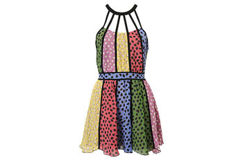 Dotted panel silk dress from Forever21.com, $34.80