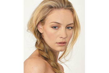 Messy side braid is easy and stylish