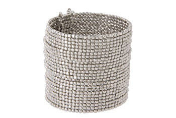 Oasis glamstock silver bead cuff from Asos.com, $26