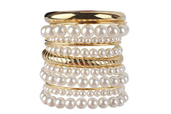 Tracy pearlescent bracelet set from Forever21.com, $10.80