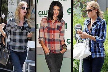 Celebs In Plaid