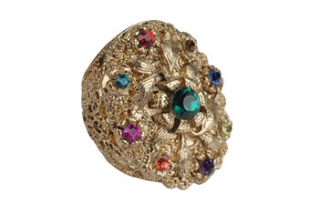 Extravagant shield ring from Forever21.com, $4.80
