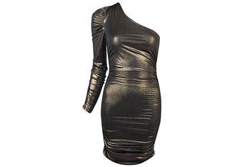 Metallic stretch shoulder dress from Forever21.com, $15.80