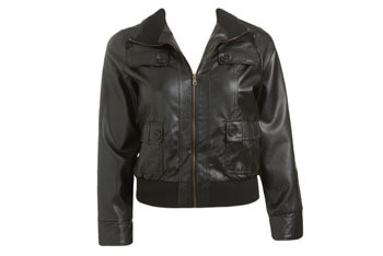 Double pocket bomber jacket from WetSeal.com, $42.50