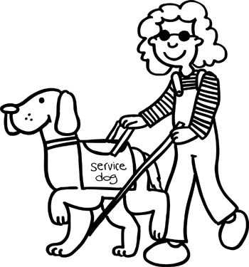 seeing eye dog coloring pages | All About Assistance Dogs