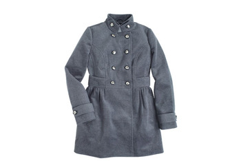 Evelyn military dress coat from Delias.com, $109