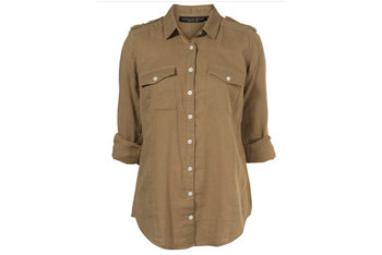 Bonded military shirt from Topshop.com, $55