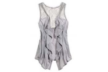 Aerie lace open vest from AmericanEagle.com, $24.50