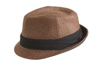 Two tone straw fedora hat from ArdenB.com, $19.50