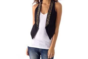 Studded black vest from Alloy.com, $36.90