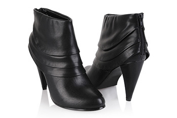 Tiered leather booties from Forever21.com, $27.80