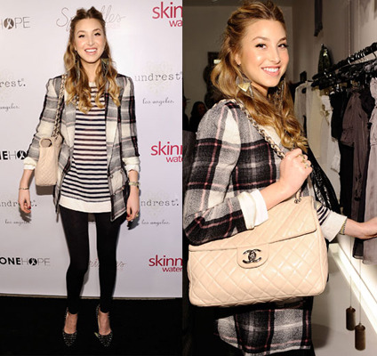Whitney loves to mix patterns like plaid and stripes!