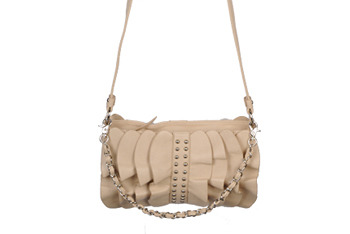 Leatherette ruffle purse from Forever21.com, $22.80