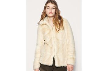 Vintage look blonde fur coat from Asos.com, $109