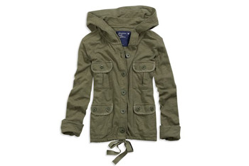 Cropped military jacket from American Eagle, $39.50