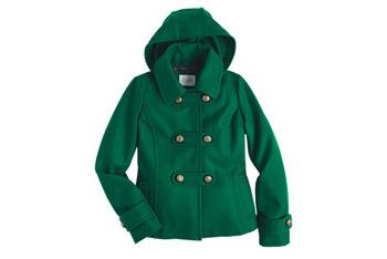 Ella coat in green from Delias.com, $89.50