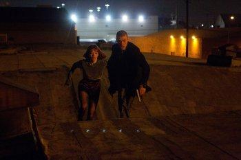 Justin Timberlake (Will Salas) and Amanda Seyfried (Sylvia Weis) are on the run.