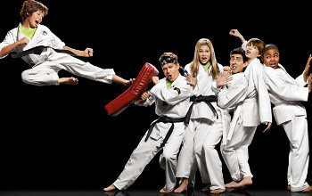Olivia is the only girl in a dojo full of boys in the show