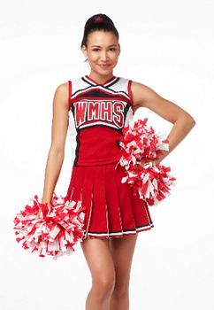 Naya Rivera plays Santana on Glee