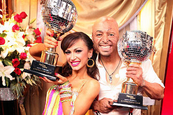 J.R. and his partner Karina Smirnoff won the latest Dancing with the Stars