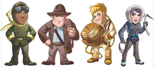 National Geographic Challenge Characters