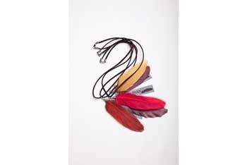Feather necklaces, $10, at www.bysamiiryan.com
