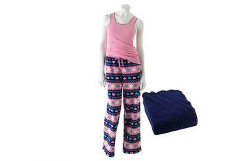 3-piece Love Plush heart fleece pajama set with blanket, $16, at Kohls.com