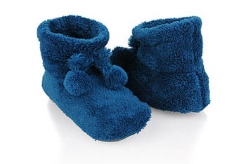 Fuzzy house slippers, $7.80
