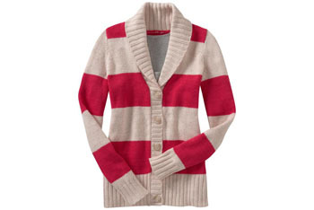 Striped cardigan, $25, at OLDNAVY.com