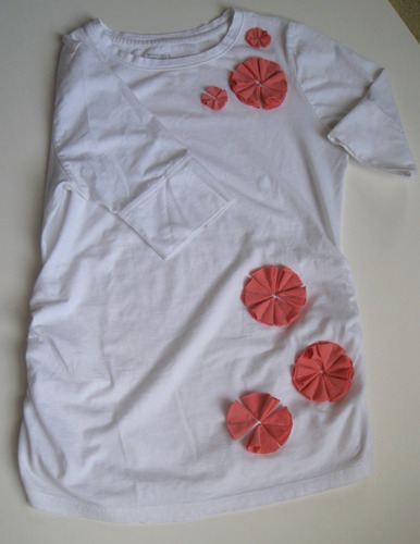 Make your own cute floral embellished shirt!