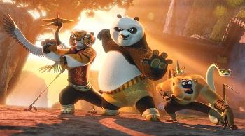 Po and the Kung Fu gang!