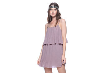 Tiered pleat dress, $21.80, at Forever21.com