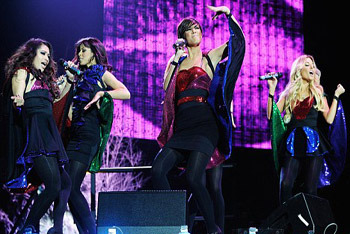Amazing sequin costumes for their concert