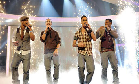 JLS in action on stage!