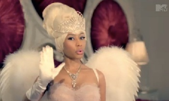 Nicki as one of her alter egos in Moment 4 Life!
